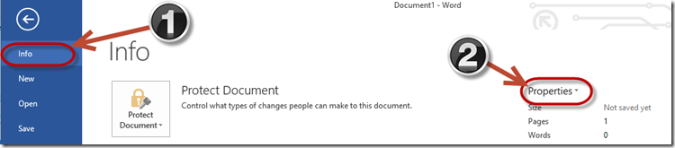 SharePoint Word_2013 Document Information Panel Missing