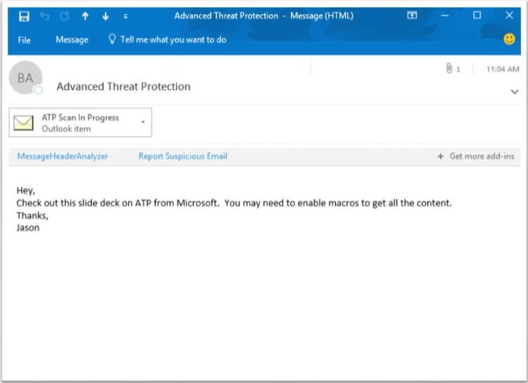 Advanced Threat Protection Dynamic Delivery