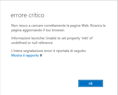 Exchange 2013 Unable to set propery during office 365 logon