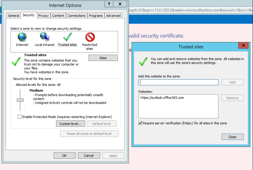 Office 365 Install Certificate