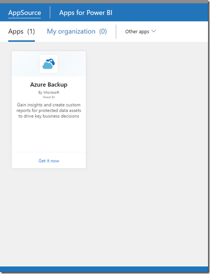 Azure Backup Content Pack