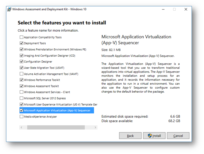 Microsoft Application Virtualization (App-V) Sequencer