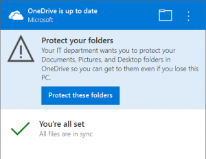 Migra i tuoi file su OneDrive con Known Folder Move - notifications group policy