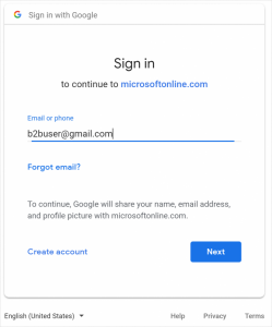 Il supporto di Azure AD B2B Collaboration per la Google ID è in public preview