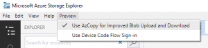 Supporto di AzCopy su Azure Storage Explorer disponibile in public preview