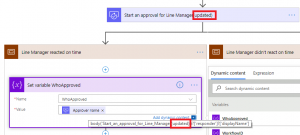 Potete ora rinominare ed eliminare le referenced Flow actions
