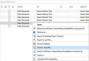 Ripristinare i dati di Microsoft Teams con Veeam for Microsoft Office 365