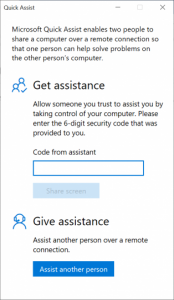 Scopriamo come utilizzare Windows 10 Quick Assist per dare o ricevere supporto da remoto