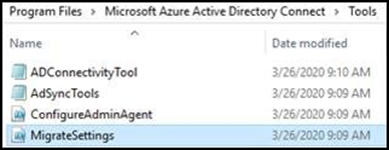 Screenshot that shows Azure AD Connect directories.